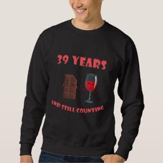 Moletom T-shirt bonito para o 39th aniversário