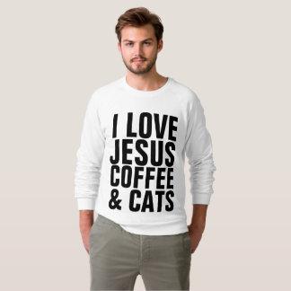 Moletom T-shirt cristãos do amante do gato, GATOS do CAFÉ