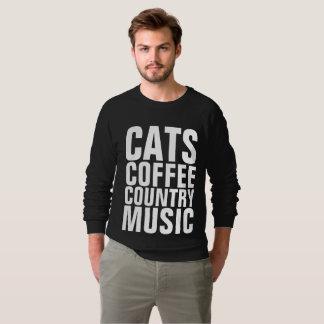 Moletom T-shirt da MÚSICA COUNTRY do CAFÉ dos GATOS