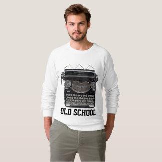 Moletom T-shirt da VELHA ESCOLA, máquina de escrever do