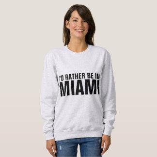 Moletom T-shirt de MIAMI BEACH FLORIDA