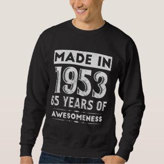 Moletom T-shirt do aniversário por 65 anos velho. T para