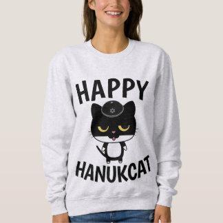 Moletom T-shirt do CAT para Hanukkah, engraçados