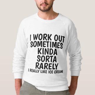 Moletom T-shirt do exercício e camisolas de alças