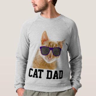 Moletom T-shirt do PAI do CAT, óculos de sol engraçados