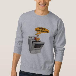 Moletom T-shirt dos homens - esconderijo engraçado de