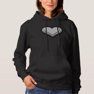 Moletom T-shirt encapuçado do coração resiliente