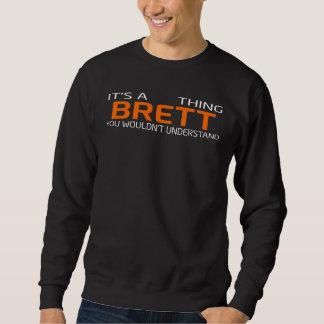 Moletom T-shirt engraçado do estilo do vintage para BRETT