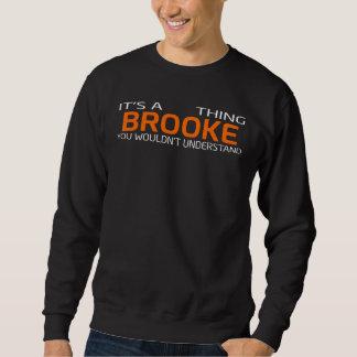 Moletom T-shirt engraçado do estilo do vintage para BROOKE