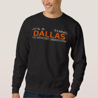 Moletom T-shirt engraçado do estilo do vintage para DALLAS