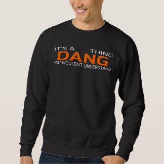 Moletom T-shirt engraçado do estilo do vintage para DANG