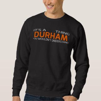 Moletom T-shirt engraçado do estilo do vintage para DURHAM