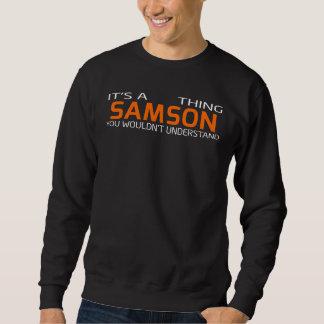 Moletom T-shirt engraçado do estilo do vintage para SAMSON