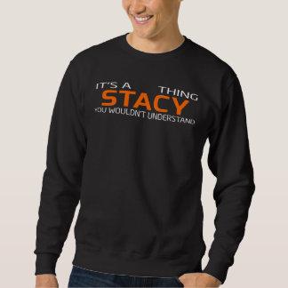 Moletom T-shirt engraçado do estilo do vintage para STACY