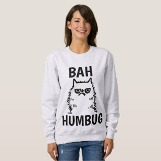 Moletom T-shirt engraçados do CAT do Natal, mal-humorados