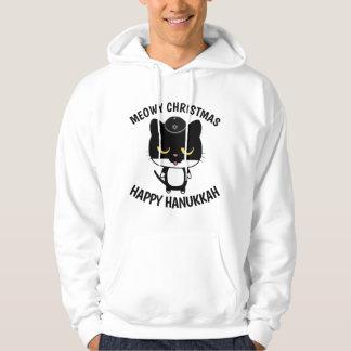 Moletom T-shirt engraçados do CAT para Hanukkah
