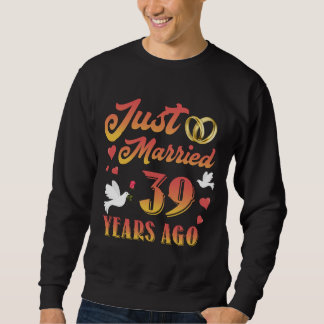 Moletom T-shirt impressionante para o 39th aniversário