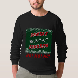Moletom T-shirt longo da luva do Natal agradável