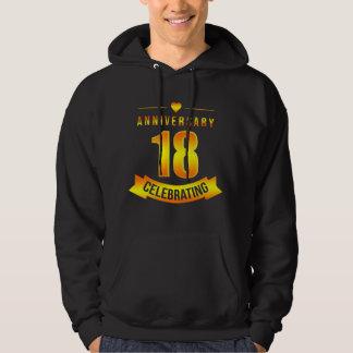 Moletom T-shirt para o 18o aniversário. Traje para pares
