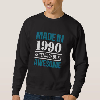 Moletom T-shirt para o 28o aniversário. Presente por 28