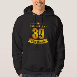Moletom T-shirt para o 39th aniversário. Traje para pares