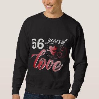 Moletom T-shirt para o 56th aniversário. Presente da