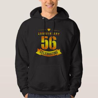 Moletom T-shirt para o 56th aniversário. Traje para pares