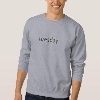 Moletom Terça-feira, slogan do T da camisola da palavra do
