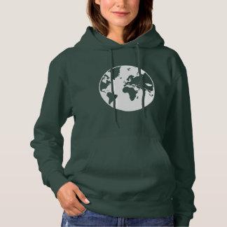 Moletom Terra/camisola encapuçado básica das mulheres
