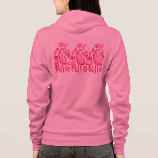 Moletom Teste padrão cor-de-rosa Funky do flamingo de