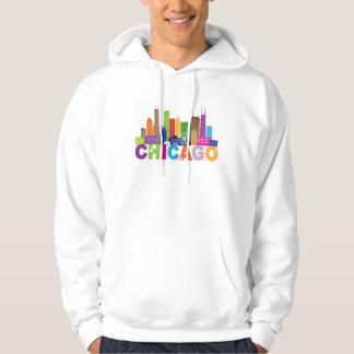 Moletom Tipografia da skyline da cidade de Chicago