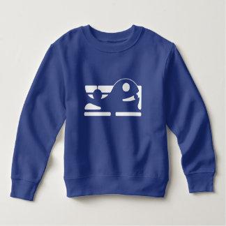 Moletom Tshirt bonito HQH dos azuis marinhos do miúdo da