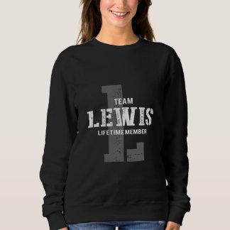 Moletom TShirt engraçado do estilo do vintage para LEWIS