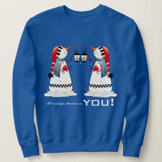 Moletom Tudo que eu quero para o Natal é você. Camisola