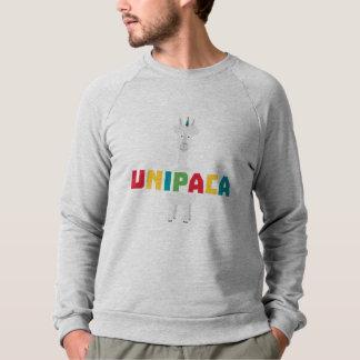 Moletom Unicórnio Z0ghq do arco-íris da alpaca