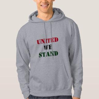 Moletom Unido nós estamos o Hoodie cinzento