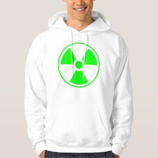 Moletom Verde e branco radioativos do símbolo da radiação