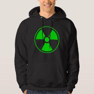 Moletom Verde e preto radioativos do símbolo da radiação