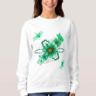 Moletom Verde esmeralda floral