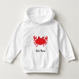 Moletom Vermelho do caranguejo do mar