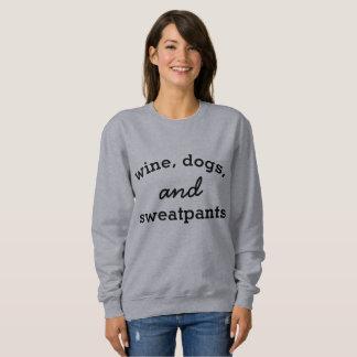 Moletom Vinho, cães, e camisola de Sweatpants