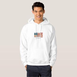 Moletom Vintage de rolamento da bandeira americana