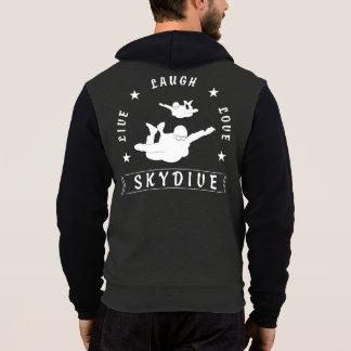 Moletom Vive o amor Skydive do riso (o texto branco)