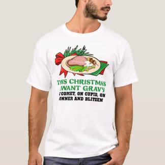 Molho na camisa engraçada do Natal da rena