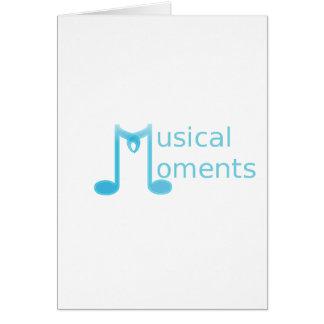 Momentos musicais cartão comemorativo