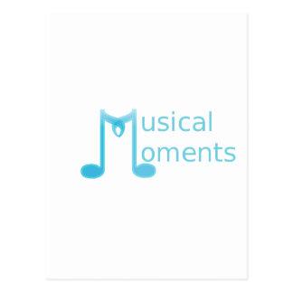 Momentos musicais cartão postal