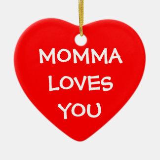 Momma ama-o ornamento para arvore de natal