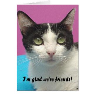 Momo - eu estou contente nós sou amigos! Cartão
