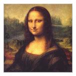 Mona bonita Lisa Convite Quadrado 13.35 X 13.35cm