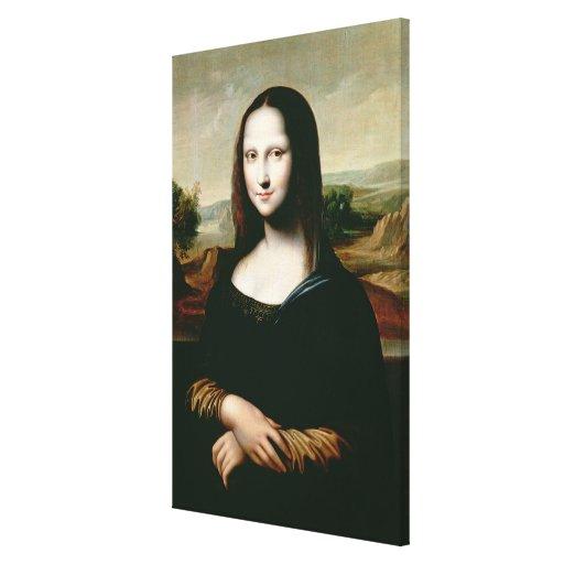 Mona Lisa, cópia da pintura por Leonardo a Dinamar Impressão De Canvas Envolvidas